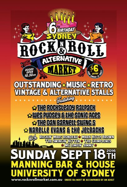 Rock and Roll markets flier