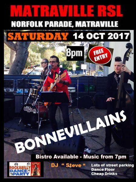 The Rockhouse Bonnevillains Matraville Rockabilly