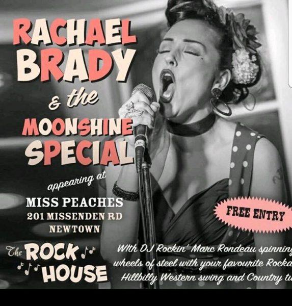 The Rockhouse Rachel Brady & The Moonshine Special Miss Peaches Rockabilly