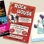 Rockhouse gig fliers